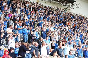 Heart and soul: Pompey passion at Fratton Park against Blackpool last month.