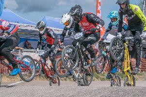 Action from the BMX National Series rounds hosted by Gosport BMX. Picture: Barrie Webb