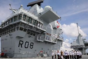 Type 26 frigates will help protect HMS Queen Elizabeth. Picture: Royal Navy