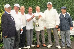 The Priory Open winners celebrate their victory