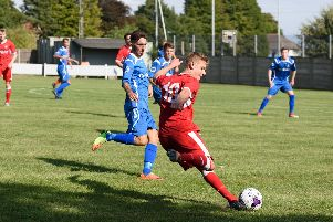 Alfie Lis was on target for Hordean in their win over Baffins. Picture: Duncan Shepherd