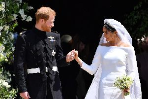 The Duke and Duchess of Sussex on their wedding day. Picture: Ben Stansall/PA Wire