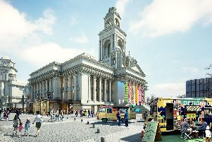 A computer-generated image of what it is hoped Portsmouth Guildhall will look like after the Renaissance scheme. Picture: Hemingway Design