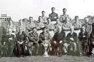 The Portsmouth FC national championship winning team of 1949