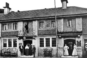 The Good Intent pub and tea rooms at Horndean, demolished after 185 years of service.