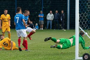 Alfie Stanley was on target in Pompey Academy's draw with AFC Bournemouth.'Picture: Keith Woodland