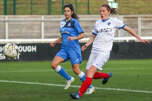 Rachel Panting scored for Pompey Women at Loughborough. Picture: Jordan Hampton