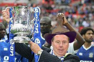 Cup-winning ex-Pompey boss Redknapp with a photoshopped I'm a Celebrity hat.
