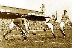 Peter Harris helped Pompey move top of the top tier on this day in 1951