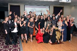 Some of the winners at the Southern Hair & Beauty Awards Picture: Derek Martin Photography
