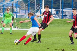 Oscar Johnston was on target for Pompey Academy. Picture: Duncan Shepherd