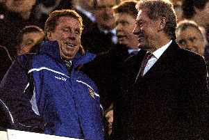 (R-L) Portsmouth Chairman Milan Mandaric and manager Harry Redknapp