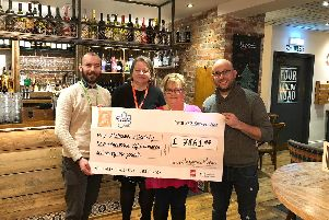 Staff at Four London Road, Horndean, have raised money for the Alzheimer's Society