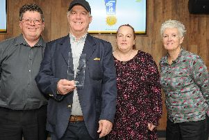 Winners of the Best Street award, Old Commercial Road. From left, Bill Moody, Dennis David, Tris Bell and Pauline Powell. Picture: Habibur Rahman