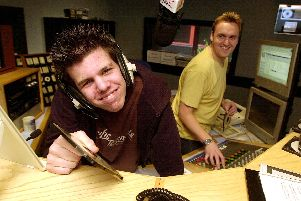 Budding DJ Daniel Taylor, who suffered from Asperger's, enjoying a tour of the Power FM studios with Rick in 2008.