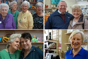 Clockwise, from top left:Roma, June Anderson, Sally Isted and Doreen Davis; Val andTrevor Carpenter; Sally Isted; June Anderson and Anne Beckett
