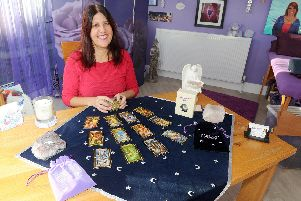 Neshla Avey gave up a high-powered job to  dedicate her life to tarot reading and healing     Picture: Sarah Standing (180863-3169)