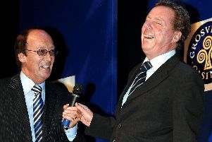Harry Redknapp, The News' Sportsman of the Year, sharing a laugh with Fred Dinenage
