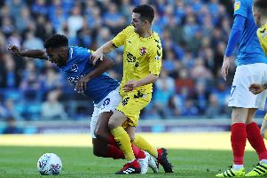 Nathan Thompson has been one of three outstanding right-backs for Pompey in recent seasons. Picture: Joe Pepler