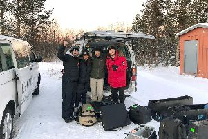 Cheryl Gibbs and her colleagues in Sweden