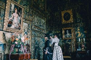 Rachel Weisz as Sarah Churchill and Olivia Colman as Queen Anne in The Favourite.