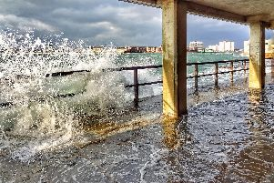 Stormy weather at Southsea. Picture: Trev Harman