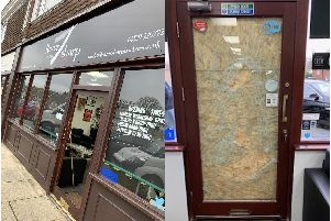 Razor Sharp Barbers in Miller Drive, Fareham was broken into