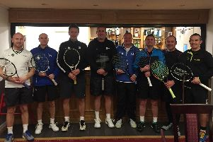 Lee 3 v JEM 2. From left|: John Dubber, Gary Lyndon, Jim Clark, Les Ainley, David Bray, Ryan Buchanan, Steve Crofts and Will Davies