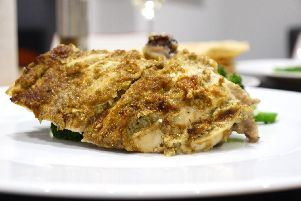 Healthy baked curried chicken