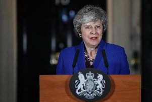 Prime Minister Theresa May speaking outside 10 Downing Street in London after MPs rejected Labour's motion of no confidence