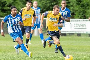Moneyfields forward Dan Wooden is set to be back alongside Steve Hutchings. Picture: Keith Woodland
