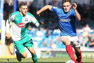 Portsmouth vs Plymouth Argyle in League One. Picture: Joe Pepler
