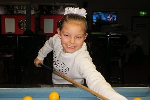 Pool league winner Keira Hiscock. Picture: Tim Dunkley