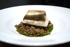 Gurnard with lentils and parsley juice