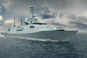 A computer-generated image of the Type 26 frigate. Photo: BAE Systems