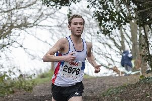 Lachlan Wellington winning the South of England Cross Country Championships. Picture: Paul Smith