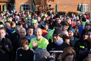 Before the start of Fareham parkrun. Picture: Chris Moorhouse