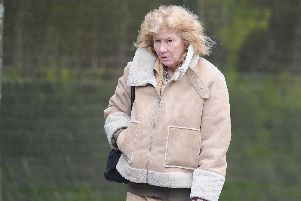 Susan Thwaites, 57, of Noctule Court, Knowle, outside Portsmouth Crown Court. She is on trial accused of an arson at Kenwood Road in Portchester on July 24 in 2017