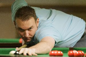 Pedro Ferguson made a 97 break. Picture: Neil Marshall (171341-20)