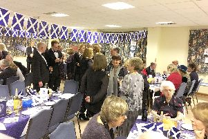 Worshippers at St Marys Church, Warsash, and their friends also enjoyed a Burns Night Supper last week