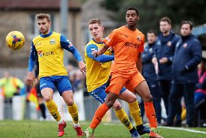Gosport Borough must show they are up for the fight when they face Frome. Picture: Chris Moorhouse