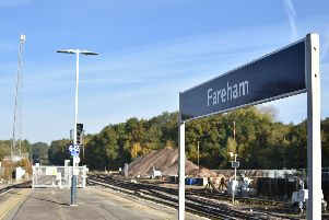 The line is blocked between Fareham and Eastleigh