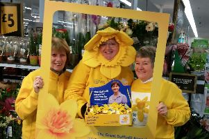 Volunteers out collecting for Marie Curie's Great Daffodil Appeal. Picture: Marie Curie