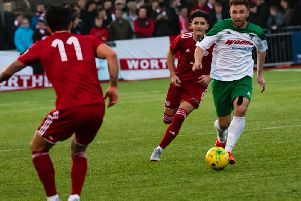Theo Widdrington was on target for Bognor against Hornchurch Picutre: Tommy McMillan