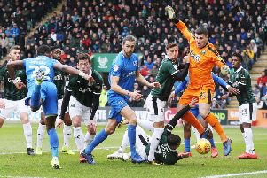 Pompey put the pressure on at Plymouth Picture: Joe Pepler - Digital South