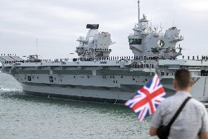HMS Queen Elizabeth in Portsmouth. Photo: Steve Parsons/PA Wire