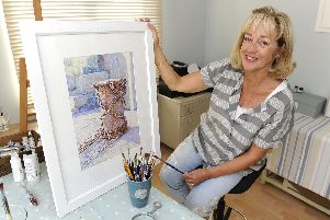 Purbrook artist Barbara Jones had one of her marine paintings shown in a prestigious exhibition in London. Picture Ian Hargreaves  (180904-1_artist)