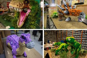 LEGO dinosaurs will be stomping their way into Marwell Zoo this Spring. Pictures: Habibur Rahman