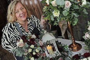Award-winning florist Micah Marshall at a wedding show at New Place Hotel'Picture: Ian Hargreaves  (270119-2)