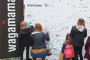 Wagamama are bringing a giant colouring wall to Gunwharf Quays!